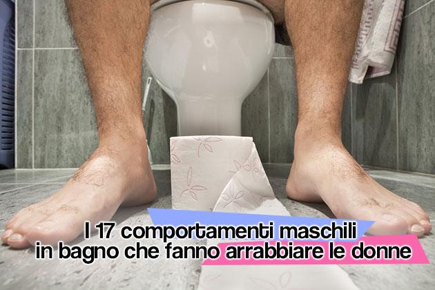 uomini che vanno in bagno