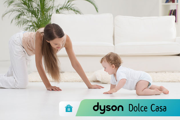 Il bambino gattona come tenere pulita la casa dyson dolce casa - Come tenere pulita la casa ...